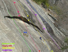 Rock Climbing Photo: approximate location of some newer routes on right...
