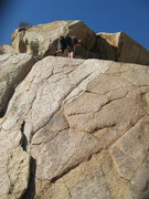 Rock Climbing Photo: Me topping out on Island Crack.