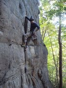 Rock Climbing Photo: First 5.9 Trad Lead.