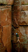 Rock Climbing Photo: Friend following friend on Carpenters Corner