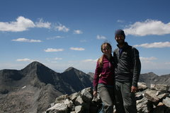 Rock Climbing Photo: Lindsey 9/5/10  My wife and I loving life
