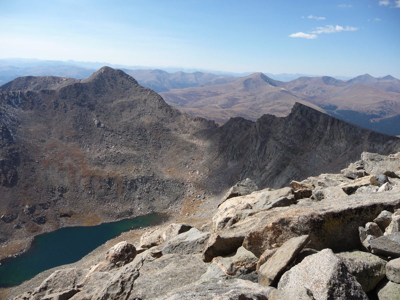 Rock Climbing Photo: Evans 10/1/10 View of Bierstadt and The Sawtooth