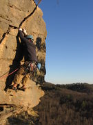 """Rock Climbing Photo: """"Bedtime for Bonzo"""" (5.6) The Red"""