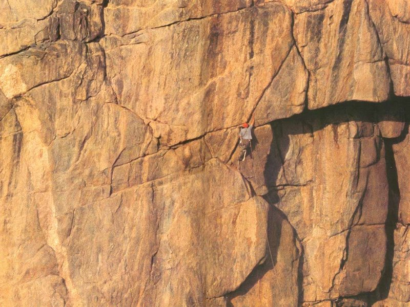 Kor on the first ascent of the Diagonal.