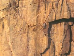 Rock Climbing Photo: Kor on the first ascent of the Diagonal.