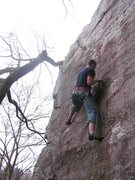 Rock Climbing Photo: Clippin the 2nd bolt
