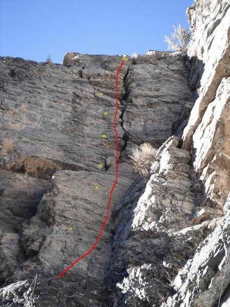 Rock Climbing Photo: Emotional Geometry. Note the rope through anchors ...