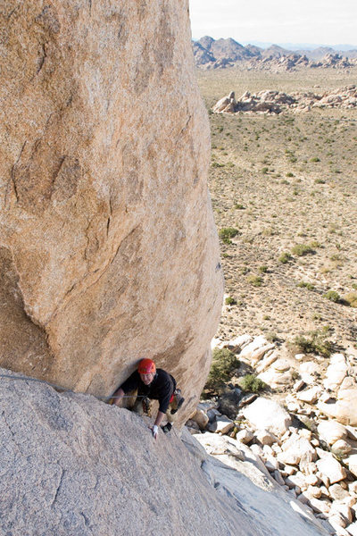 Rock Climbing Photo: Michael McKay climbs the second pitch of Right On,...