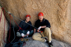 Rock Climbing Photo: Matthew & Michael enjoy the spacious belay ledge a...