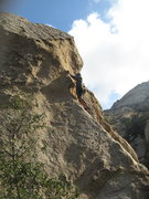 Rock Climbing Photo: Me leading Praise the Rays.