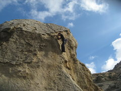 Rock Climbing Photo: Agina on Praise the Rays.