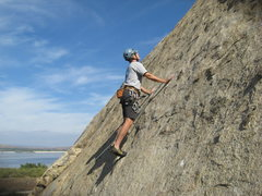 Rock Climbing Photo: Me on the main wall left of the Hard Trough on a n...