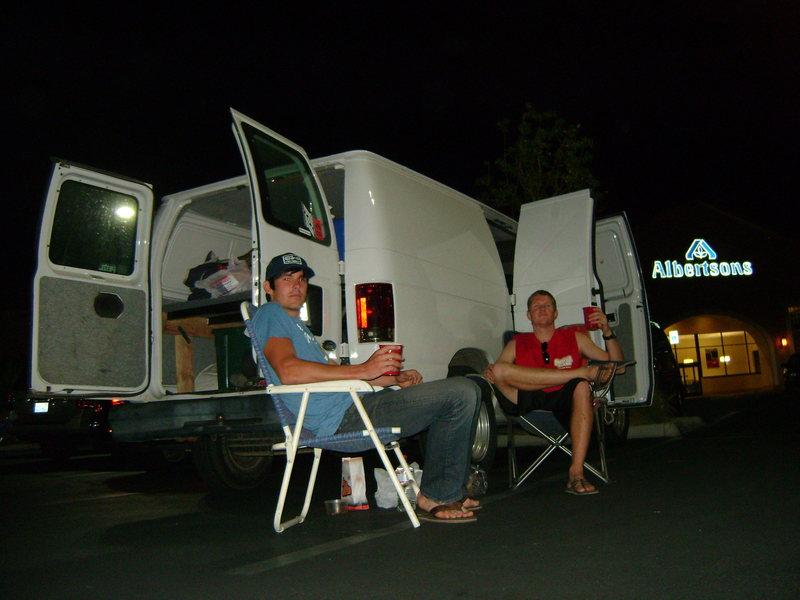 Camping at Albertsons, near Red Rocks