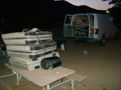 Rock Climbing Photo: Keough Hot Springs camping near Bishop, CA