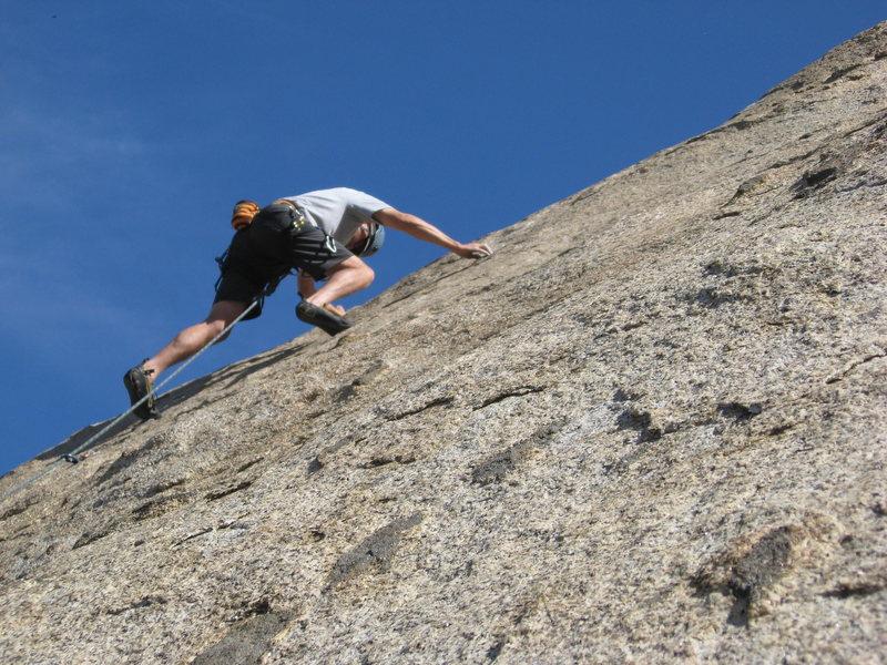 Just past the first bolt. Fun climb.