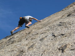 Rock Climbing Photo: Just past the first bolt. Fun climb.