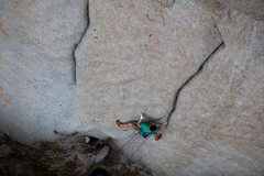 Rock Climbing Photo: The flared-hands starting crack. Photo credit: And...