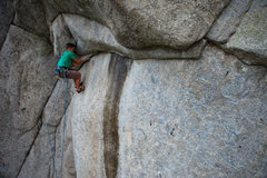 Rock Climbing Photo: The roof traverse. Photo credit: Andrew Burr