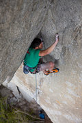 Rock Climbing Photo: The scary part of The Scary Seam. Photo credit: An...
