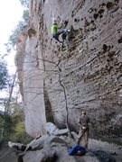 Rock Climbing Photo: I'd like to say that I flashed the route... but I ...