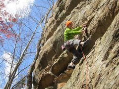 Rock Climbing Photo: This gives you a glimpse of the crux roof (which I...
