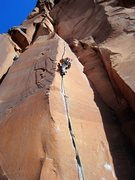 Rock Climbing Photo: On the onsight of this perfect crack