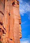Rock Climbing Photo: Burly route for the small handed.  excellent pract...