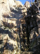 Rock Climbing Photo: Route is steeper than it appears in here