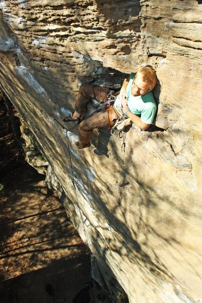 Rock Climbing Photo: Finding a great reset just right of your bolt