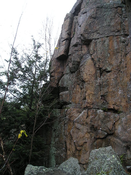 Rock Climbing Photo: Bolted route on right side of picture, there is an...