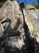 Rock Climbing Photo: Good look bolts closely spaced on crux in top cent...
