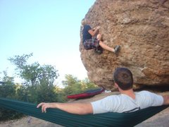 Rock Climbing Photo: Campground boulder
