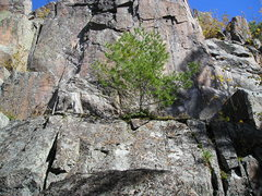 Rock Climbing Photo: Unclimbed section on left