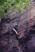 Rock Climbing Photo: Rich Bechler, leading Thorough Fare Direct, Devil'...