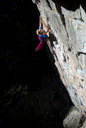 Rock Climbing Photo: Adie Drolet makes it look good.  Photo: Andy Mann.