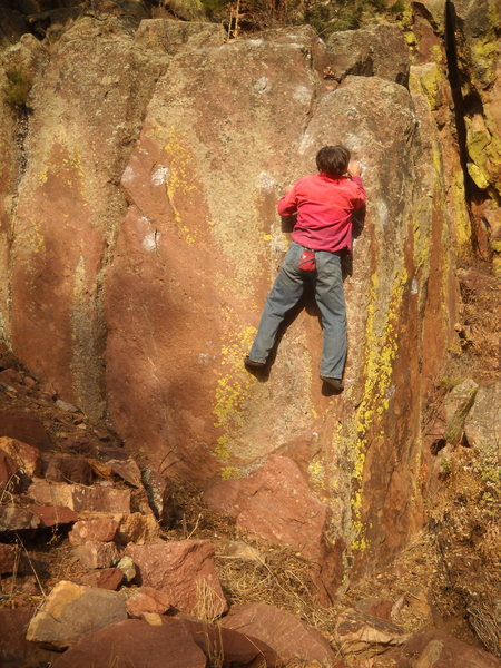 Rock Climbing Photo: Sunbeam V1hb, Corner Stone, West Ridge, Eldorado C...