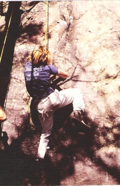 Rock Climbing Photo: Rich Bechler on All the Way, circa 79 or 80. In me...