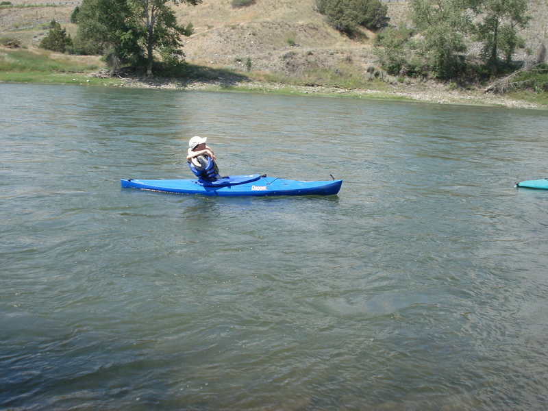 Kayaking in Wyoming.