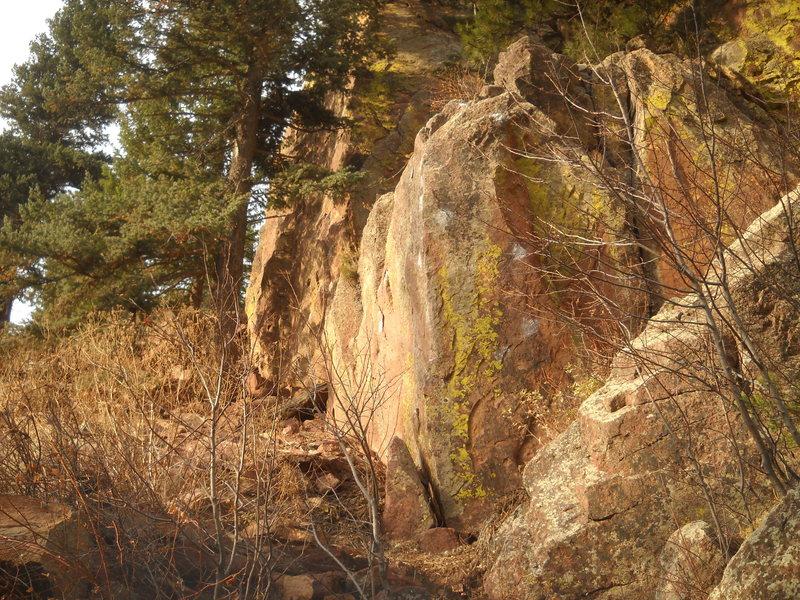 The Corner Stone, trailside.