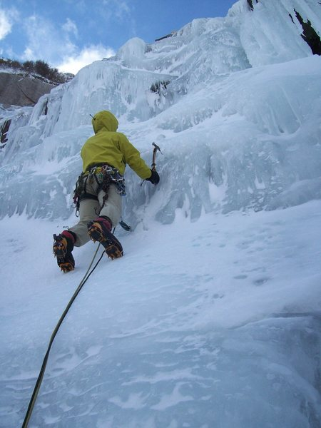 Rock Climbing Photo: Patrick Weaver leading the second pitch. Whoda thu...