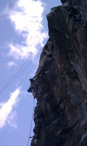 Rock Climbing Photo: putting the hurt on winnie roast