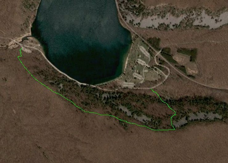 Rock Climbing Photo: This shows a very rough outline of the path I took...