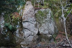 Rock Climbing Photo: Main boulder you see when coming down the trail.