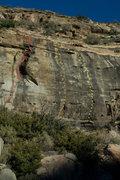 Rock Climbing Photo: Red: Exilis Dihedral Orange: Mammoth Poaching Yell...