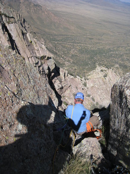 Rock Climbing Photo: Kenny bringing the rest up to the summit of Low Ho...