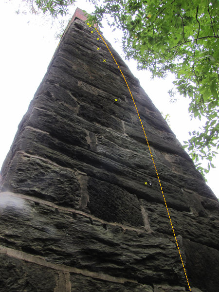 Climb to the right of the bolt line.