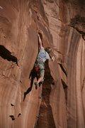 Rock Climbing Photo: Terry sticking it.