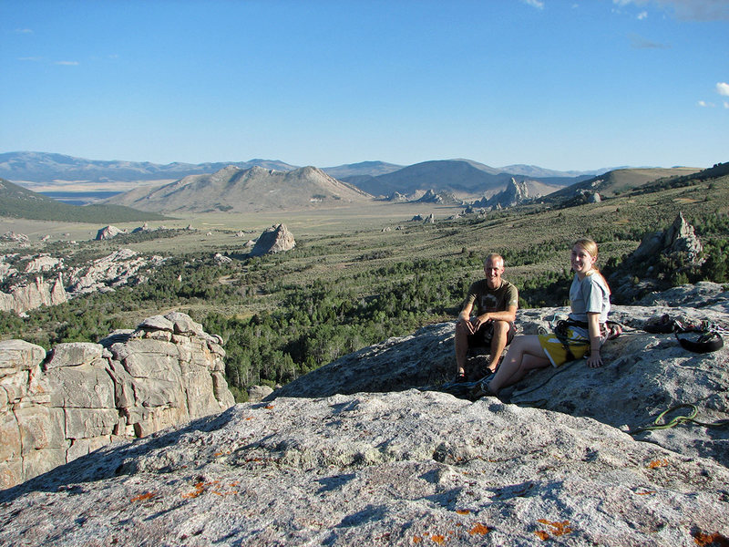 Rock Climbing Photo: Gwen and Matt on top of Lower Breadloaves - Provo ...