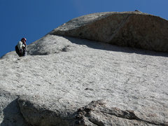 Rock Climbing Photo: Pausing on the first pitch of The Fin Arete. April...