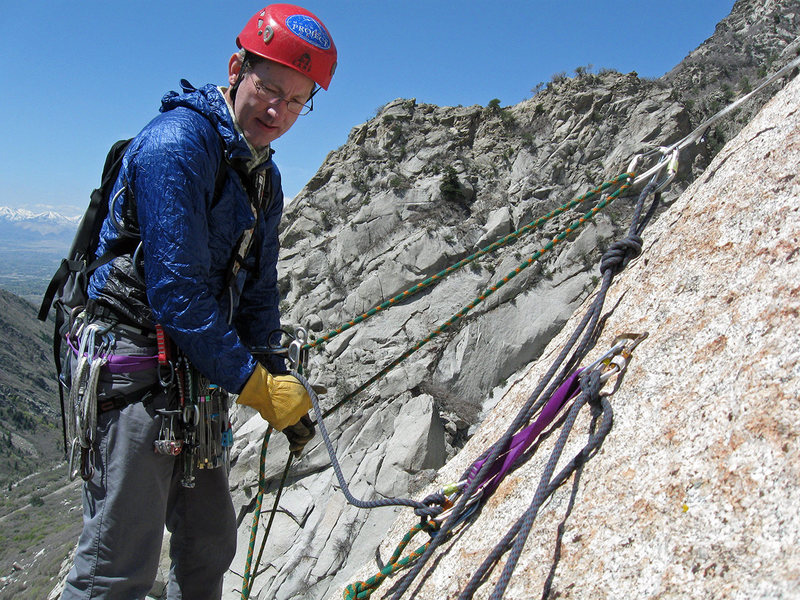 Rock Climbing Photo: At the top of the second pitch on The Fin Arete. A...